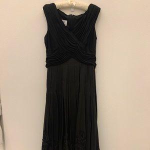 Black Soutache Taffeta Ball Gown Formal Dress
